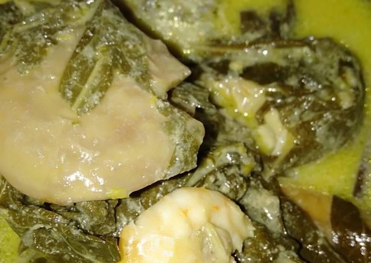 Resep: Gulai pucuak ubi,udang&jariang(jengkol) yang menggugah selera