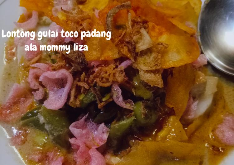 Resep: Lontong Gulai toco padang lezat