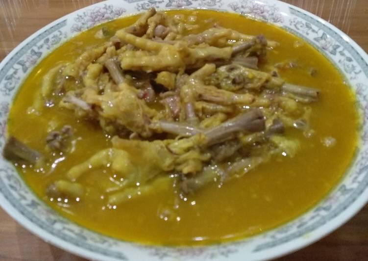 Resep: Gulai kaki ayam + nangka enak