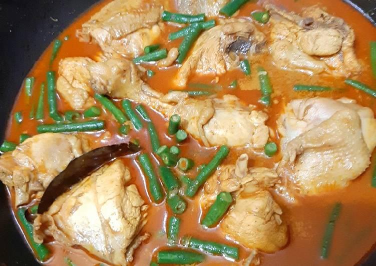 Resep: Gulai ayam kacang panjang enak