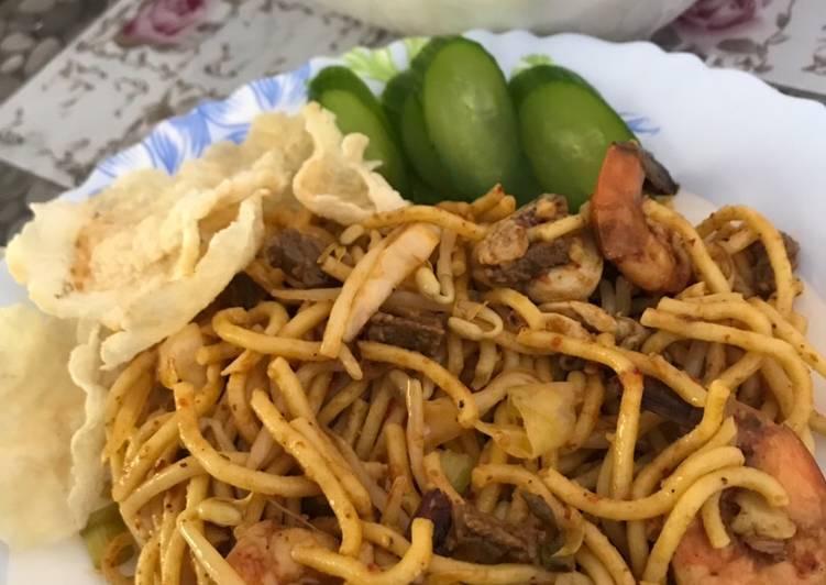 Resep: Mie Aceh goreng basah enak