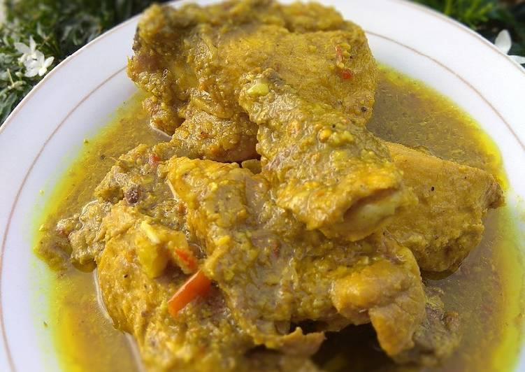 Resep memasak Ayam gulai kuning No santan lezat