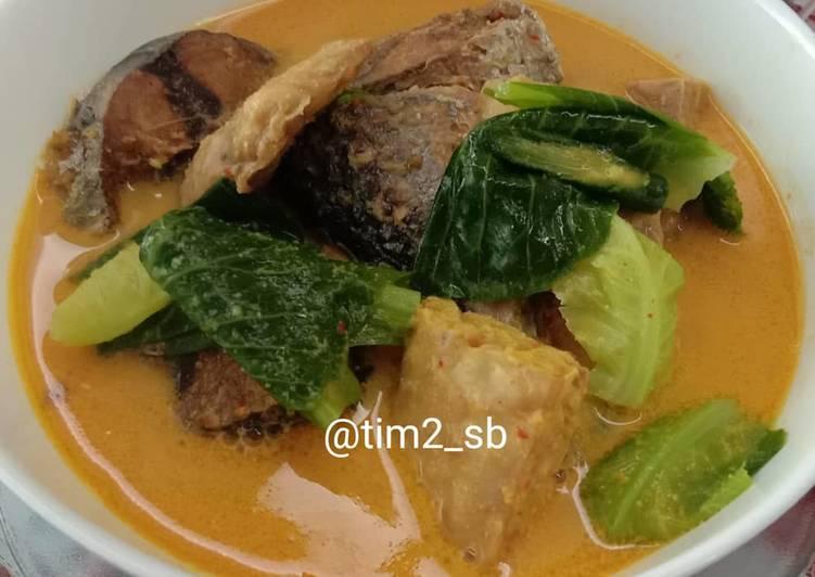 Resep mengolah Gulai Ikan Tongkol mix Tempe & Lobak Singgalang