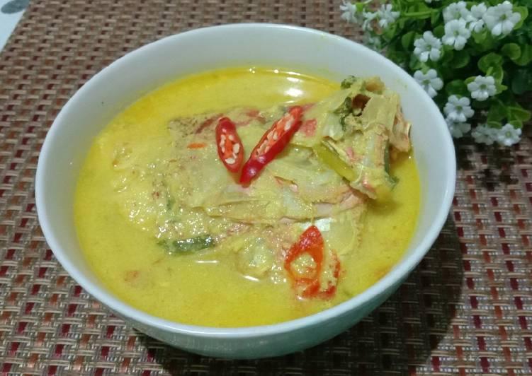 Resep memasak Gulai Ikan Kakap Bumbu Kuning yang menggoyang lidah