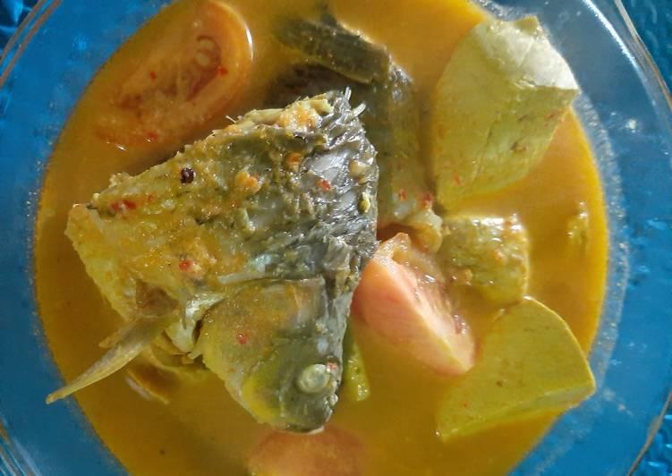 Resep mengolah Gulai ikan mas + tahu yang bikin ketagihan