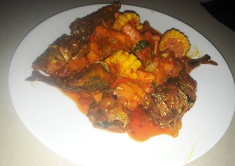 Cara memasak Tongkol balado asam manis ala resto