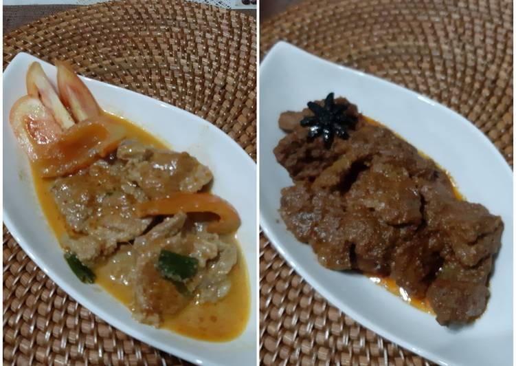 RENDANG Daging & KALIO (Rendang 1/2 Jadi 😍😋)