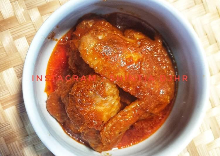Cara memasak Sayap Ayam Kalio pedas (tanpa santan) lezat