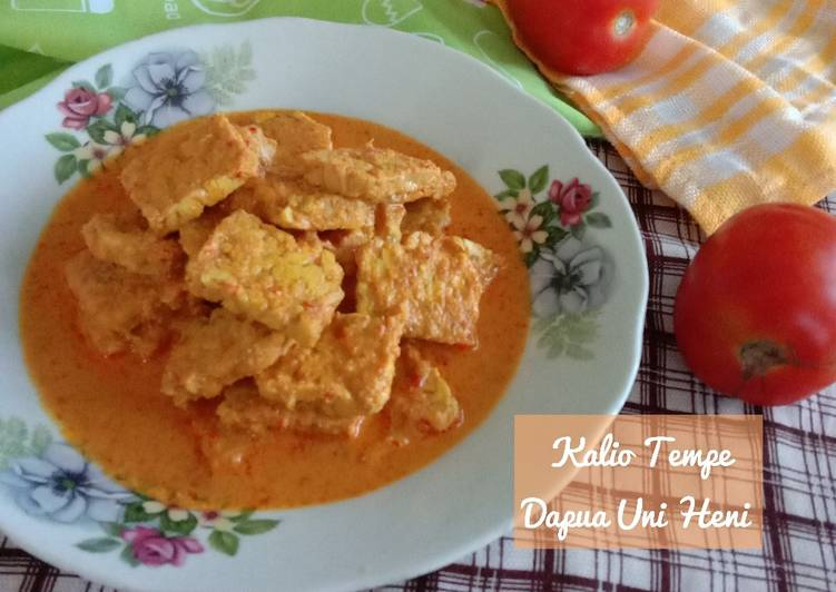 Cara memasak Kalio Tempe yang bikin ketagihan
