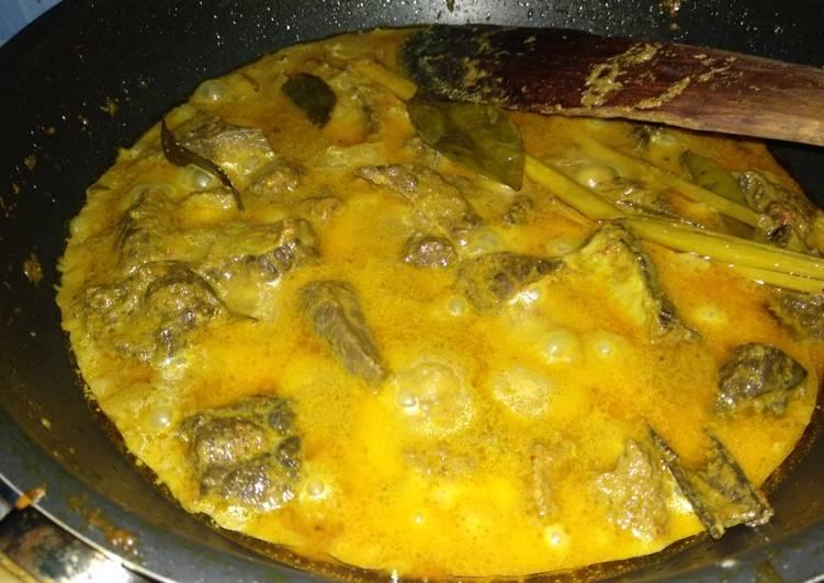 Cara Mudah memasak Kalio daging dan paru lembu yang menggoyang lidah