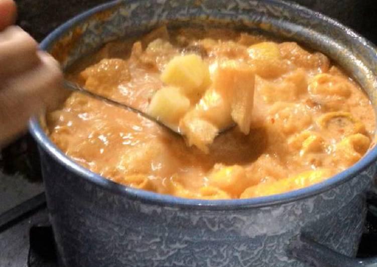 Cara Mudah mengolah Sayur kentang kerupuk kulit (dorokdok)