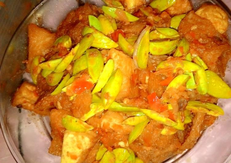 Resep: sambal petai kerupuk kulit ala aniezafa ala resto