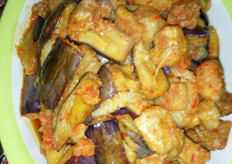 Cara Mudah memasak Sambel terong +rambak yumii istimewa