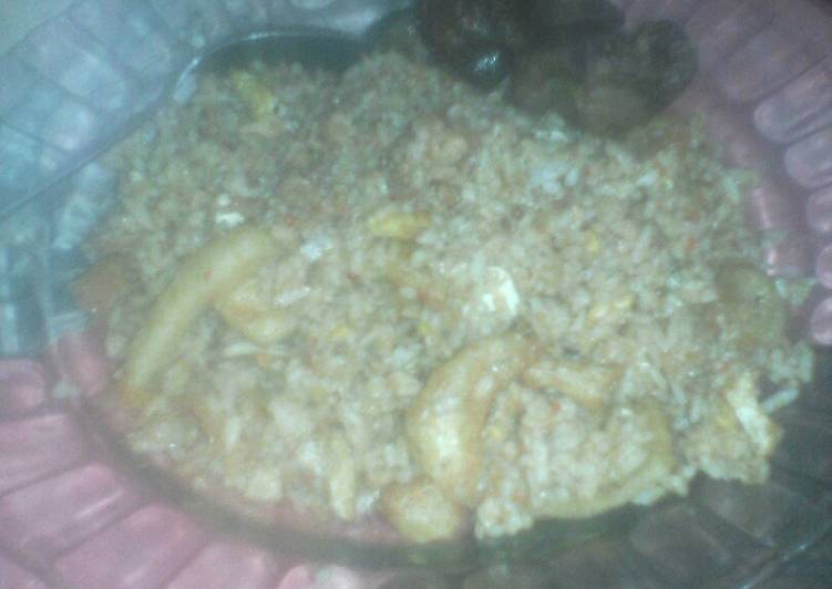Nasi Goreng Rambak sapi Rawit