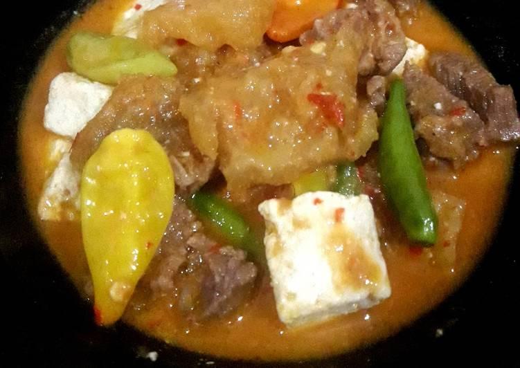 Resep: Sambel krecek daging sapi lezat