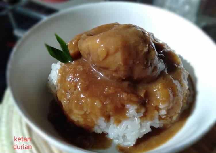 Resep: Ketan durian