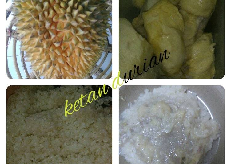 Resep: Ketan durian istimewa