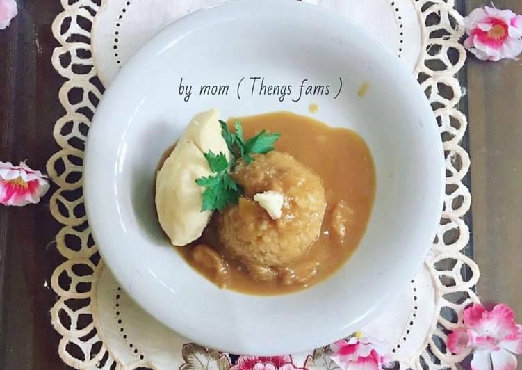 Cara mengolah Nasi tuai / pulut ketan-durian enak