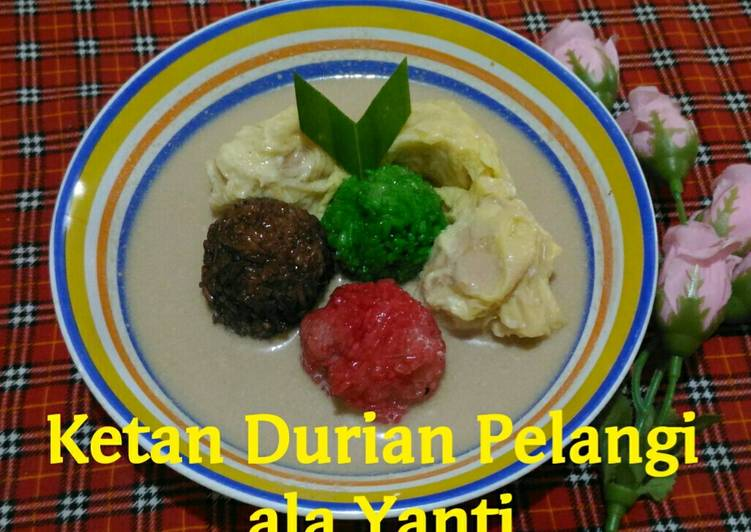 Ketan Durian Pelangi