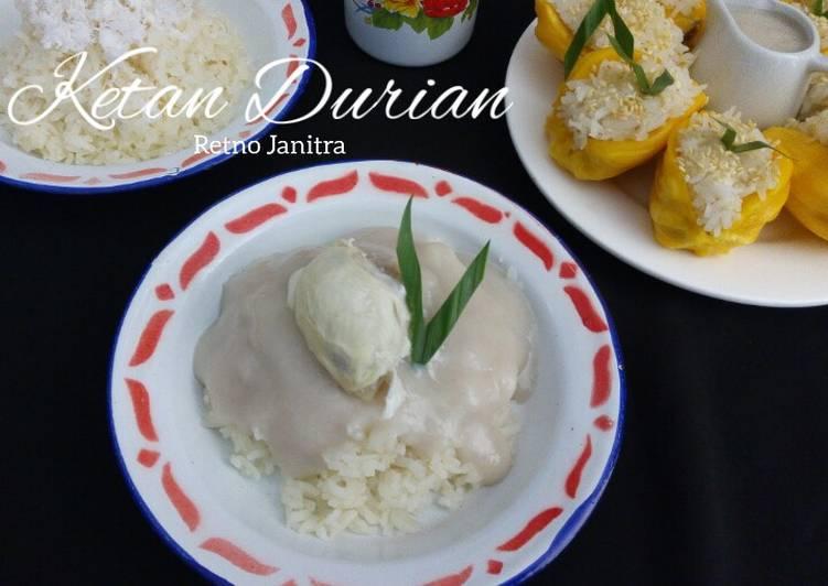 Cara memasak Ketan Durian yang menggoyang lidah