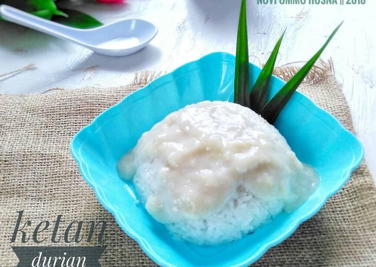 Cara membuat Ketan durian lumer sedap