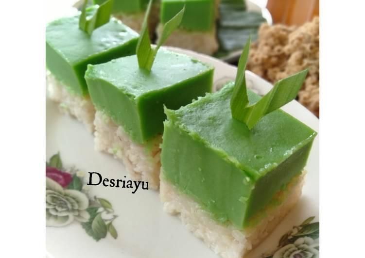 Resep mengolah Ketan Srikaya / Kuih Serimuka / Kue Serawak yang menggugah selera