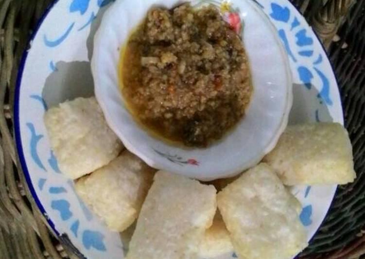 Resep memasak Uli nasi aci sambel oncom (uli nasi nya kaya uli ketan kenyal2) istimewa