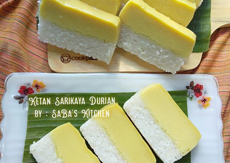 Resep: 83. Ketan Sarikaya Durian yang menggugah selera