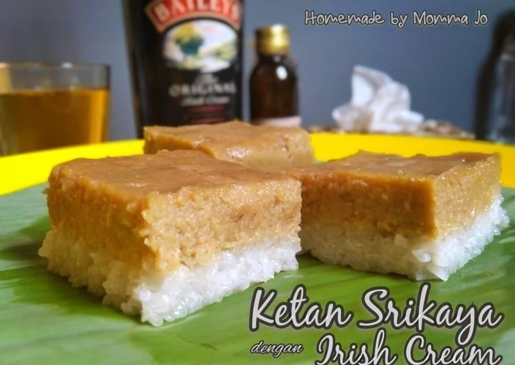 Cara mengolah Ketan Srikaya dengan Irish Cream sedap