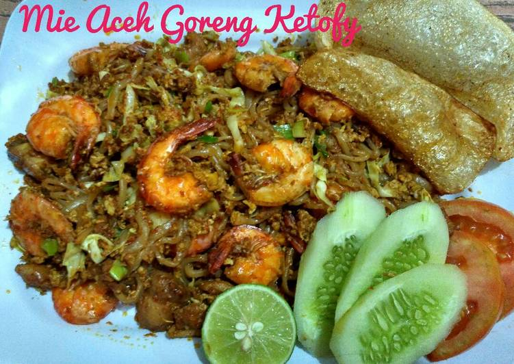 Resep mengolah Mie Aceh Goreng Ketofy #Ketopad_CP_OlahanShirataki yang menggugah selera
