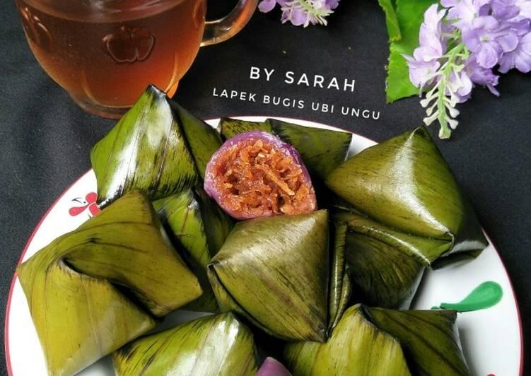 Resep mengolah Lapek bugih ubi ungu unti kelapa istimewa