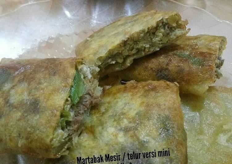 Resep: Martabak Mesir / telur versi mini