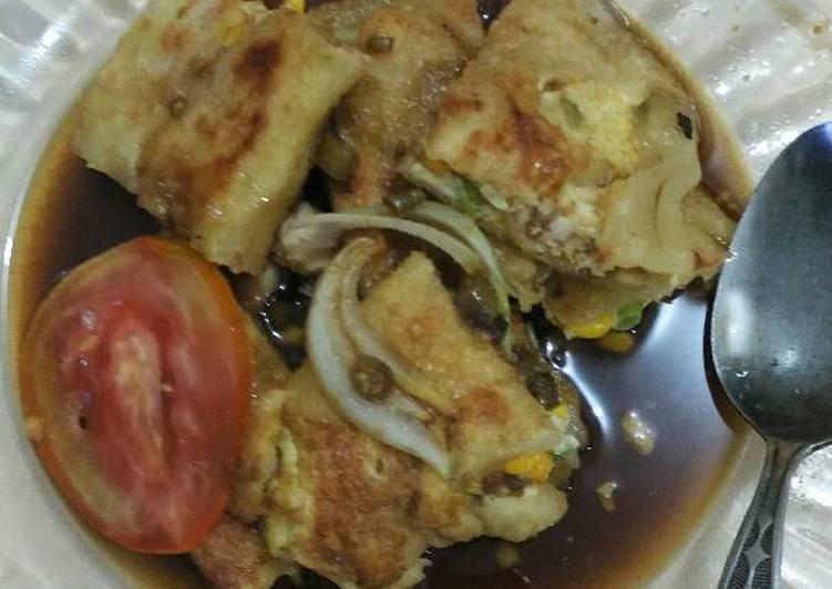 Resep: Martabak mesir (isi ayam dan jagung) enak