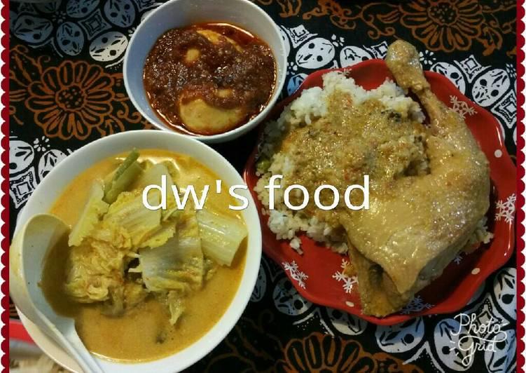 Cara mengolah Lunchboxset ala dw's food(rendang ayam,gulai kapau,balado telur) yang bikin ketagihan