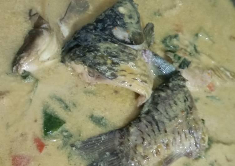 Cara Mudah memasak Pangek masin ikan mas istimewa