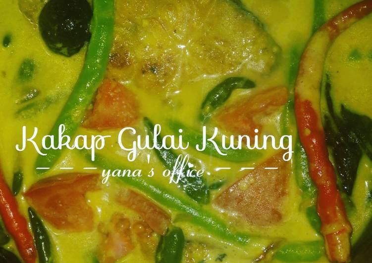 Resep: Kakap Gulai Kuning Yana / Pangek Masin Kakap ala resto