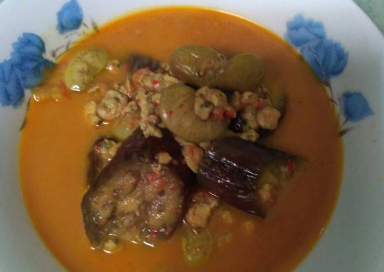 Resep: Gulai Pensi (kerang kecil) terung dan kacang roti