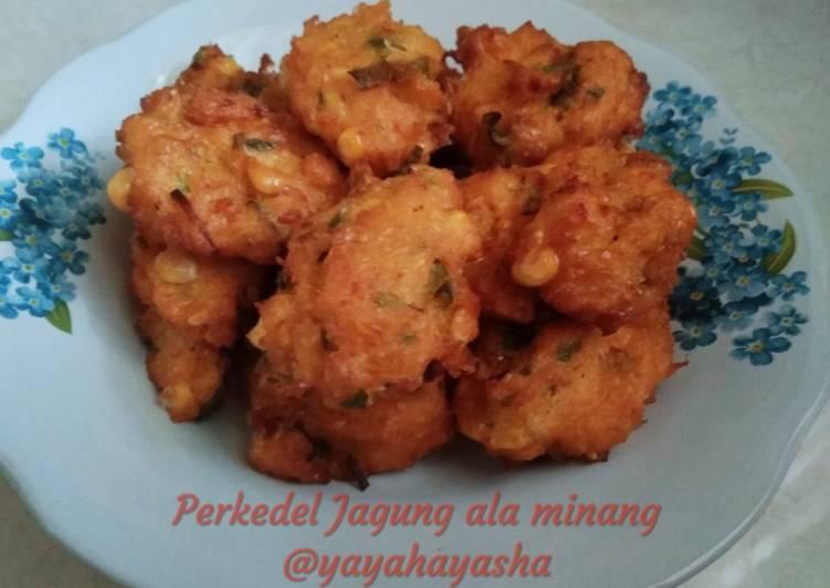 Resep memasak Perkedel Jagung ala Minang yang bikin ketagihan