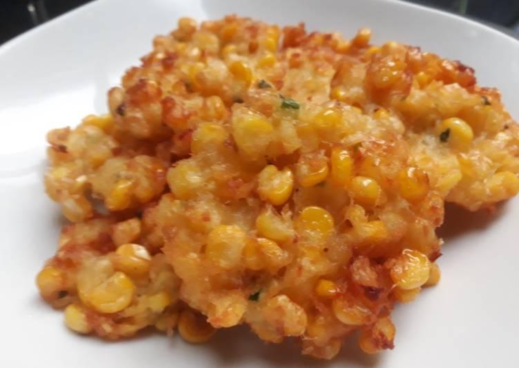 Resep membuat Perkedel jagung ala resto