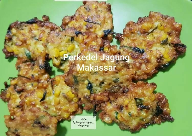 Cara memasak Perkedel jagung makassar lezat