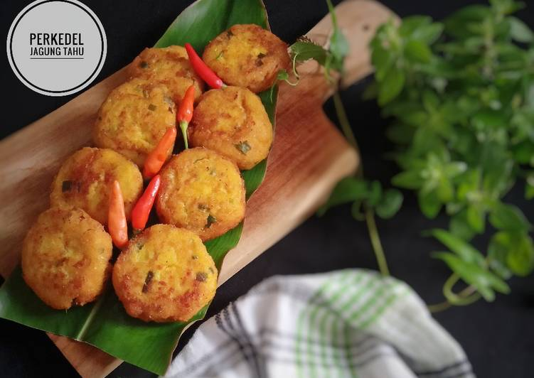 Cara memasak Perkedel Jagung Tahu yang menggoyang lidah