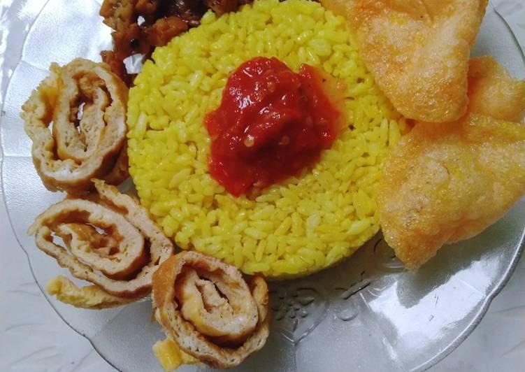 Cara Mudah memasak Nasi Kuning magic com yang menggugah selera