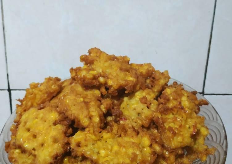 Resep memasak Perkedel Jagung bumbu instan istimewa