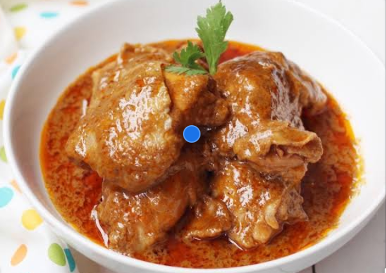 Cara Mudah membuat Ayam rendang ala resto