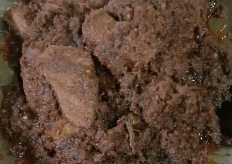 Cara Mudah membuat Rendang daging khas minang Asli lezat