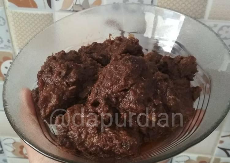 Rendang dengan Rempah Baharat (Arabic 7 Spices)