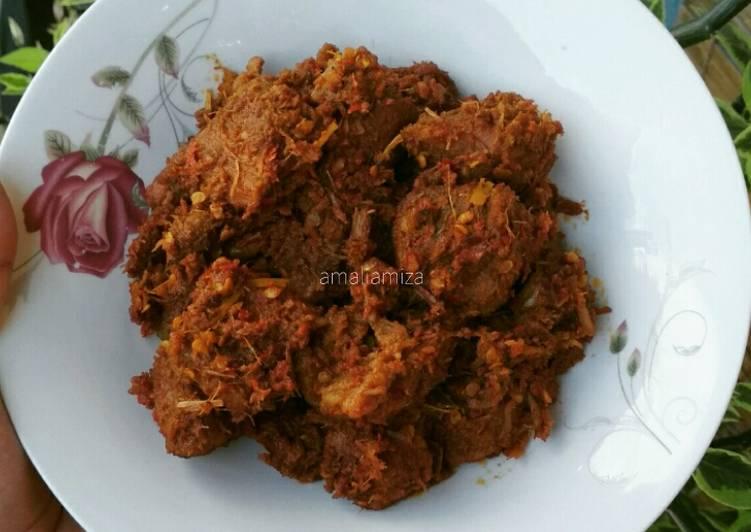 Resep: Rendang Daging Sapi (5 Jam) yang menggugah selera
