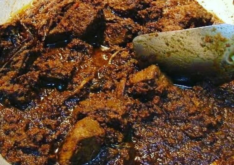 Cara membuat Rendang daging dan jengkol asli sedap