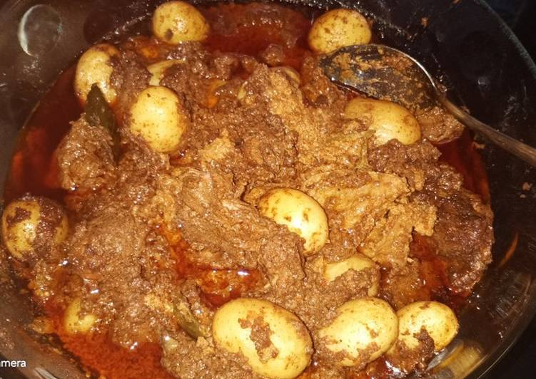 Rendang Daging kentang