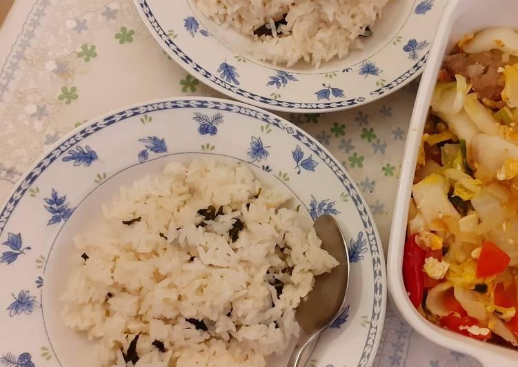 Resep: Nasi Gurih Daun Mint/Peppermint (Bisa Diganti Kemangi) yang menggugah selera